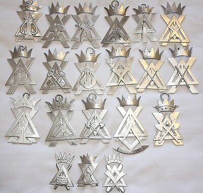 Rare Lot of 17 Crypt Officers Collar & Apron Jewels ( Free Delivery)
