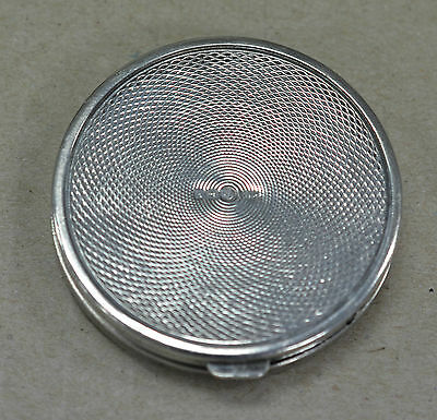 MINIATURE EARLY 1900s HALLMARKED STERLING SILVER LADIES MAKEUP COMPACT