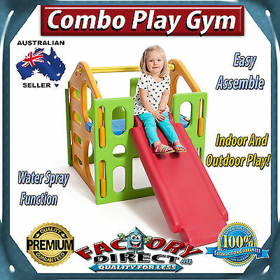 NEW! Combo Play Gym Indoor And Outdoor Play Slide Cubby House Easy Assemble!