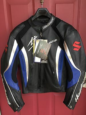 SUZUKI Hayabusa Leather Jacket by AGV Sport  Size 42