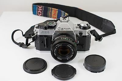Canon AE-1 Program 35mm Film Camera with 50mm f/1.8