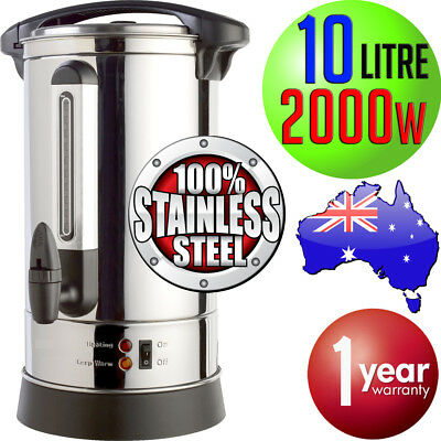 Boiling 10L Electric HOT Water Boiler Urn 2000W Stainless Steel 10Litre Lock NEW