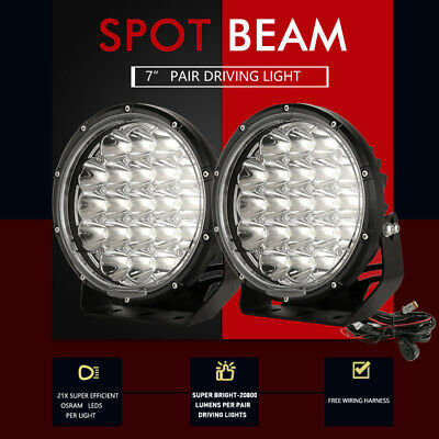 1400w 7inch Cree led Driving lights spot Offroad Lamp round HID JEEP ATV 4WD SUV