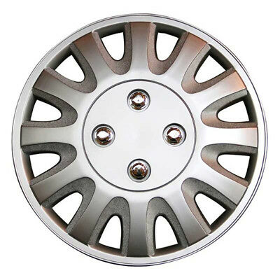 Motion 14 Inch Wheel Trim Set Silver Set of 4 Hub Caps Covers By TopTech