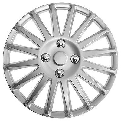 Speed 13 Inch Wheel Trim Set Silver Set of 4 Hub Caps Covers By TopTech