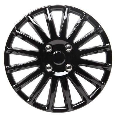 Speed 14 Inch Wheel Trim Set Gloss Black Set of 4 Hub Caps Covers By TopTech