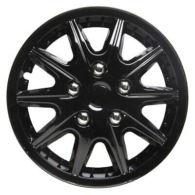 Revolution 13 Inch Wheel Trim Set Gloss Black Set of 4 Hub Cap Covers By TopTech