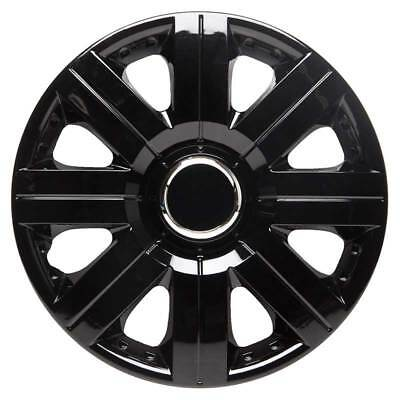 Torque 14 Inch Wheel Trim Set Gloss Black Set of 4 Hub Caps Covers By TopTech