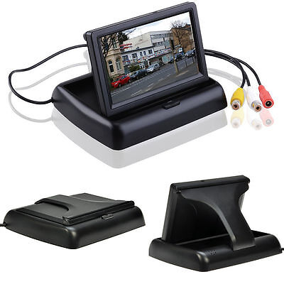 Fold 4.3'' TFT LCD Car Kit Rear View Monitor Screen For Reverse Camera DVD VCD