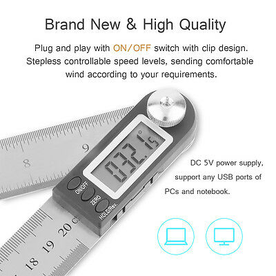 """NEW 11"""" Electronic Digital Protractor Goniometer Angle Finder Miter Gauge USA"""