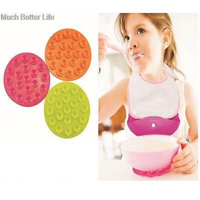 Two Sided Baby Kids Bowl Suction Cup Mat 19 Holes Tableware Sucker Anti-slip Mat