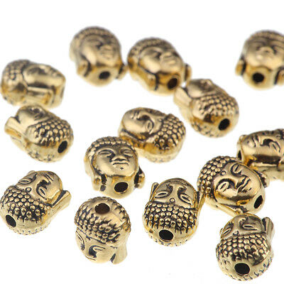 10x Silver/Gold Buddha Head Loose Spacer Beads Charm DIY Jewelry Findings 10*9mm