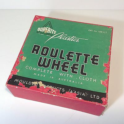 Vintage DUPERITE Roulette Wheel in Original Box With Cloth