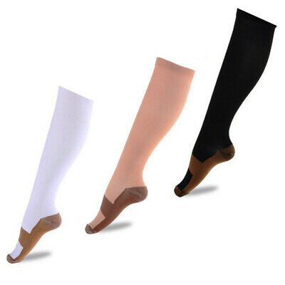 Copper Compression Socks 20-30mmHg Graduated Support Men's Women's S-XXL 4 Pairs