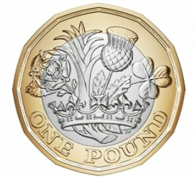 #IN STOCK# New 12 Sides 2017 £1 One Pound Coin Dated 2016 RARE UNCIRCULATED