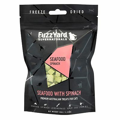 10x Fuzzyard Supernaturals Seafood & Spinach 25G Natural Cat Kitten Treats