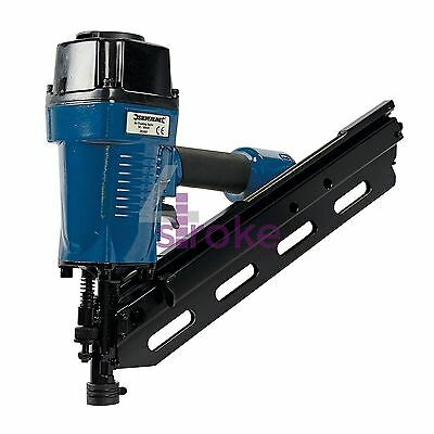 Air Finishing Nailer Nail Gun 90mm 10 - 12 Gauge Nails Framing Fencing Decking