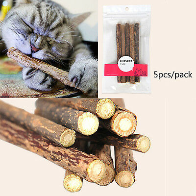 2Bags 10PCS Pet Cat Chew Stick Treat Toy Natural Matatabi Polygama Catnip Molar