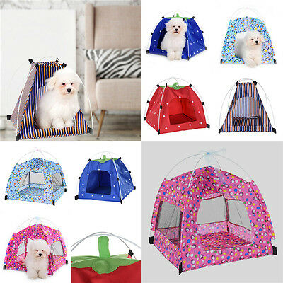 Foldable Oxford Cloth Pet Kennels Dog Puppy Cat Teepee Play Tent House Bed Hot