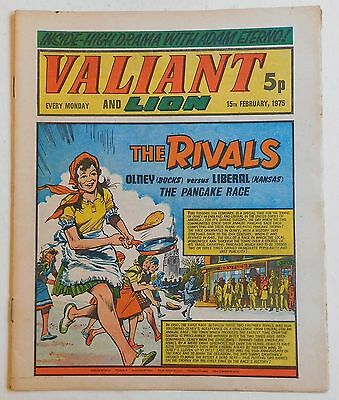 VALIANT and LION Comic - 15th February 1975