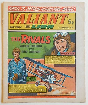 VALIANT and LION Comic - 8th February 1975