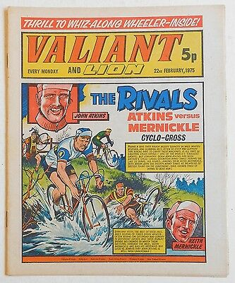 VALIANT and LION Comic - 22nd February 1975