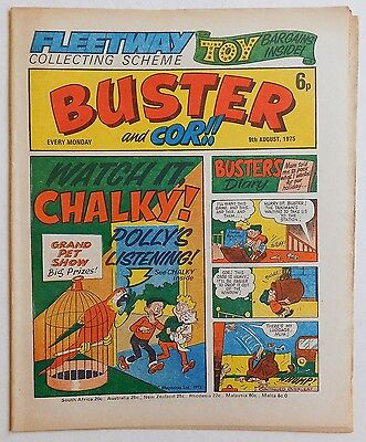 BUSTER and COR Comic - 9th August 1975