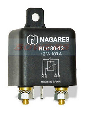Nagares Rl/180-12 High Performance Hd Normally Open Multi Purpose Relay 12V 100A