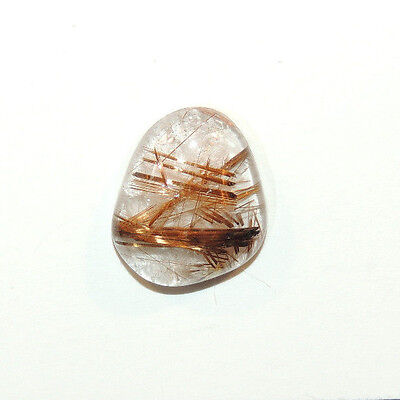 Golden Rutilated Quartz Cabochon 17x14.5mm with 5mm dome (12143)