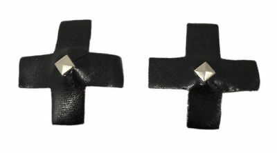 New Ann Summers Black Cross Studded Nipple Covers Pasties Boxed Dom Fetish Sexy