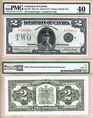 Prince of Wales in Uniform $2 1923 Dominion of Canada DC-26l.  PMG EF40
