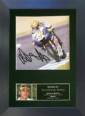 VALENTINO ROSSI Mounted Signed Photo Reproduction Autograph Print A4 33