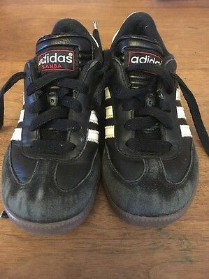 Adidas Samba Classic Black White Shoes sneakers kids youth Size 12