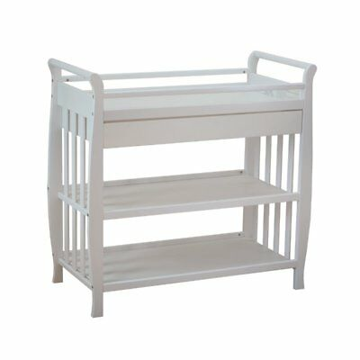 Athena Nadia Changing Table with Drawer in White