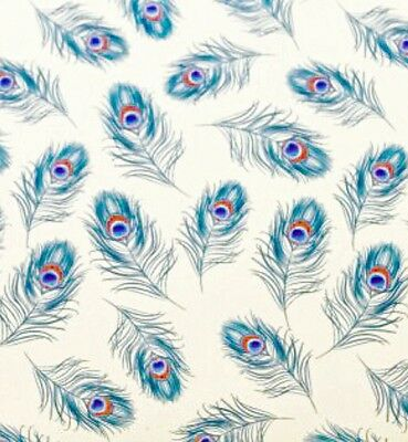 Peacock Feathers Printed Tissue Gift Wrap Wrapping Paper SatinWrap (Pack of 5)
