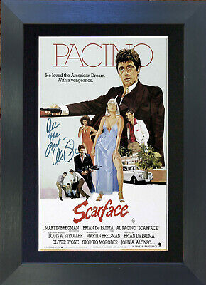 AL PACINO Scar Face Mounted Signed Photo Reproduction Autograph Print A4 12