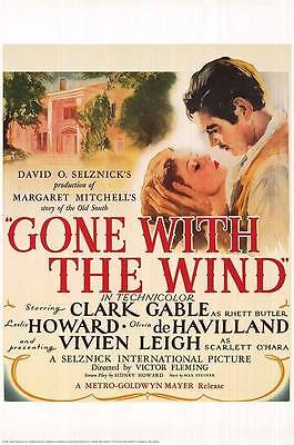 Gone With The Wind  (1939) Limited Edition Movie Poster  -  Rolled
