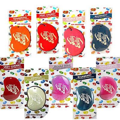 Jelly Belly 2D & 3D Air Freshner For Car Office Home Van Truck all Flavour