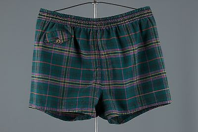 Vtg 50s Plaid Swim Trunks/Shorts Men's sz M Swimming Suit #1037