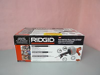 NEW RIDGID 35473 K-45AF Drain Cleaner w/ Autofeed for 3/4''-2-1/2''