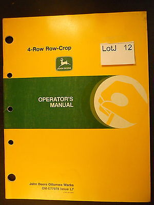LotJ 12: John Deere Operator's Manual 4-Row Row-Crop