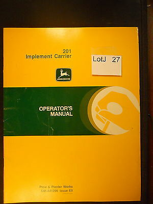 LotJ 27: John Deere Operator's Manual 201 Implement Carrier