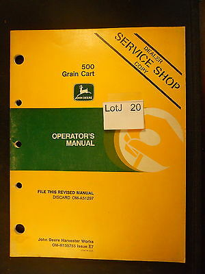 LotJ 20: John Deere Operator's Manual 500 Grain Cart