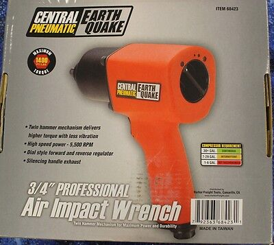 "Central Pneumatic 3/4"" Professional Air Impact Wrench 68423"
