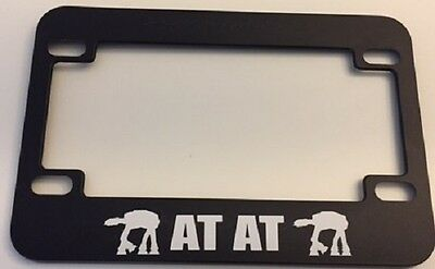 """Robot """"  At-AT Star wars Machine -   Motorcycle / Scooter LICENSE plate frame"""