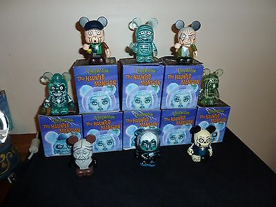 """Disney Vinylmation 3"""" Haunted Mansion Series 2 Set of 8 w/ Chaser NEW IN HAND"""