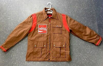 "Coca Cola Delivery Drivers Jacket Size Medium 42"" / 107 Cm Coke Coat"