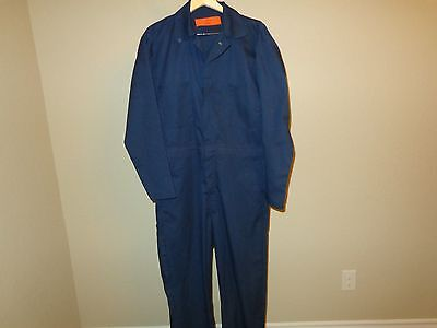 Men's EWC Blue Zip-Up Long Sleeve Jumpsuit Coveralls Size 42 Reg Shipping 002