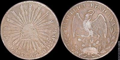 Mexico: 1832-Do R.M. Eight Reales Silver   First Republic of Mexico   KM# 377.4
