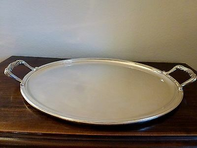 Christofle Large Oval Silverplated  Serving Tray